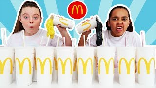 Don't Choose The Wrong McDonalds Milkshake Slime Challenge!!