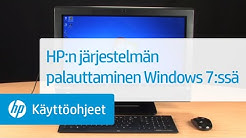 HP:n järjestelmän palauttaminen Windows 7:ssä