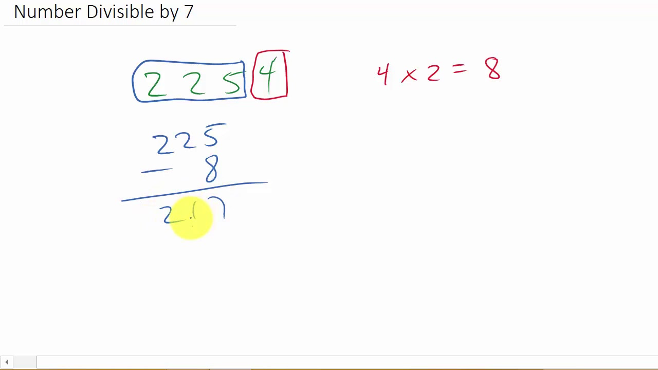 Math Trick How To Determine If A Number Is Divisible By 7 In