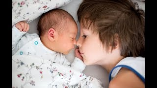 Funny Sibling Videos   Cute Moments Baby playing with brother and sister