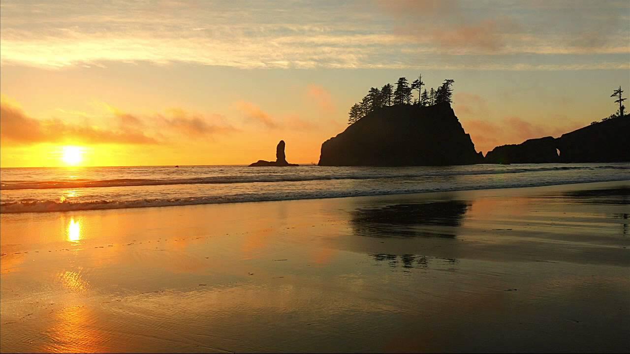 Beautiful Sunset At Second Beach La Push Olympic Park Washington You