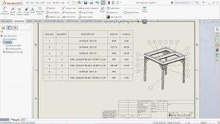 SolidWorks Weldments Tutorial 2D Drawing & Welding Cut List Part 2