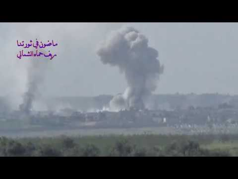 Violent airstikes on Halfaya in Northern Hama