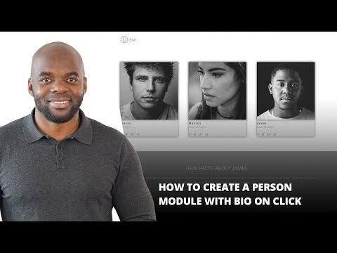 How to Create a Person Module with Bio on Click