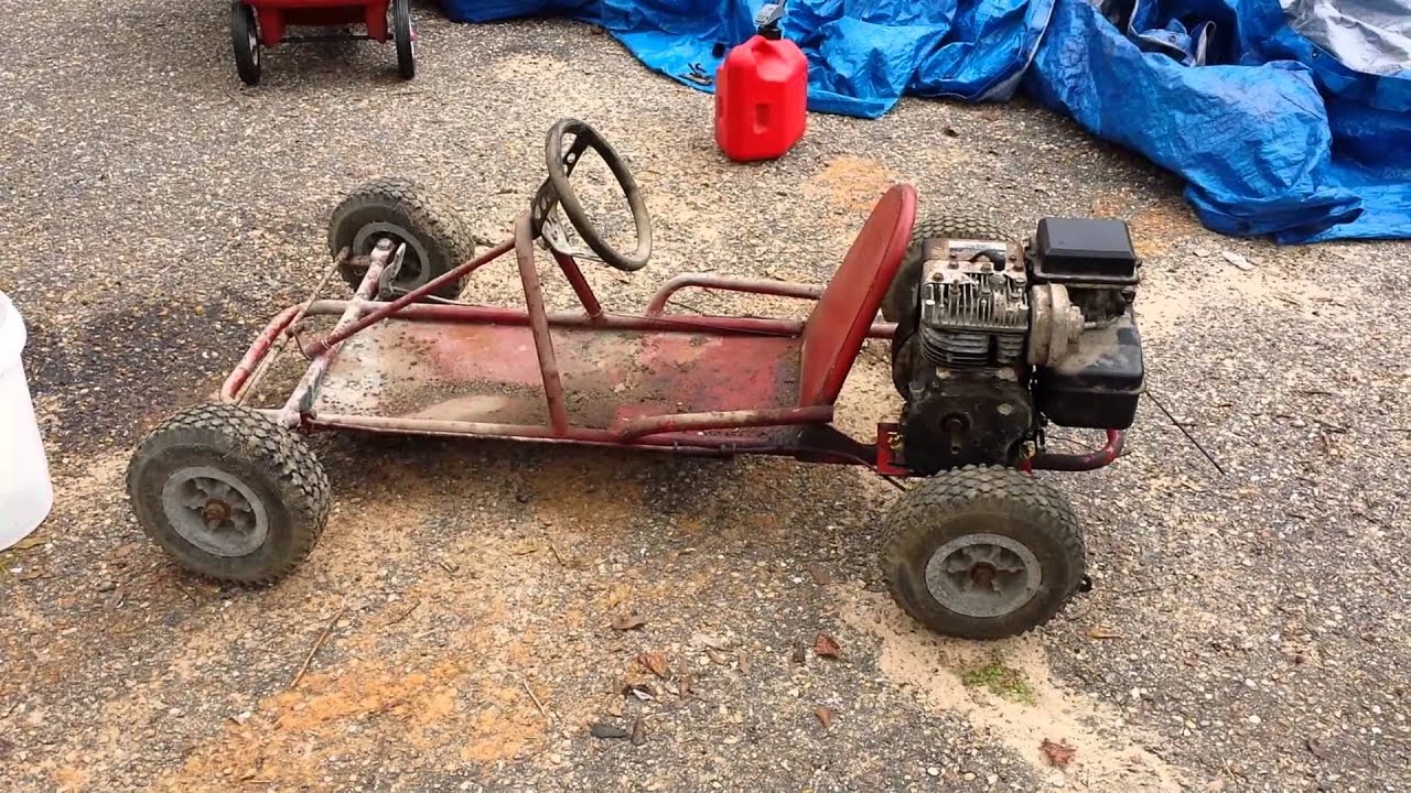 30+ year old go kart - YouTube