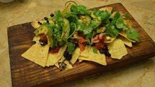 Baked Healthy Vegetarian Nachos Recipe