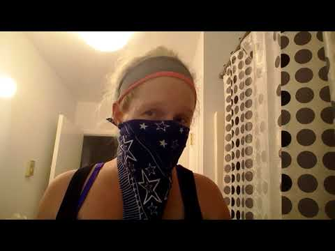 The girl with the blue bandana