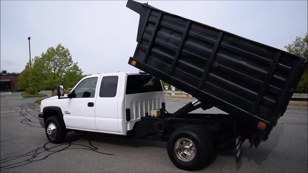 2006 Chevy Silverado 3500 Dump Truck 4x4 6.6L Duramax ...
