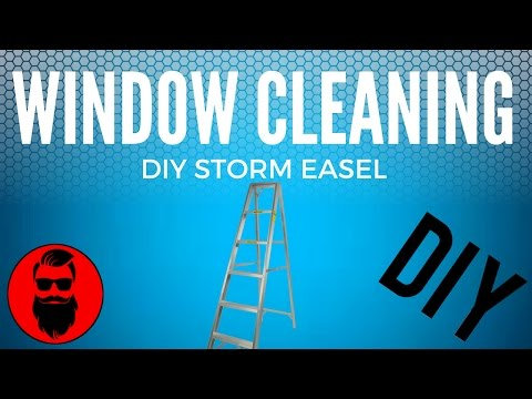 Storm Window Cleaning Station