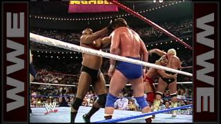 Bad News Brown eliminates Roddy Piper: Royal Rumble 1990