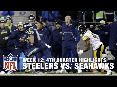 Relive the Steelers vs. Seahawks Crazy BackAndForth 4th Quarter  NFL Highlights