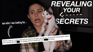 REVEALING YOUR KITTY CAT SECRETS | AYYDUBS