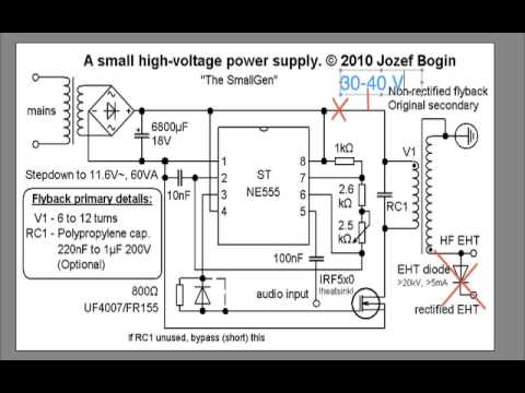 Plasma Speaker Turorial Pt 1 Schematic - YouTube
