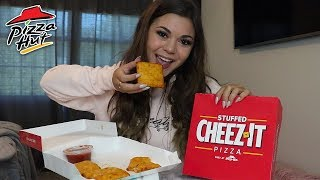 Trying New Pizza Hut Stuffed Cheez-It's! + MERCH IS OUT