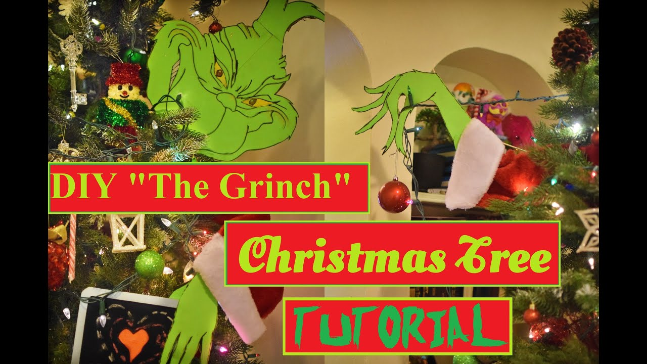 diy grinch christmas tree