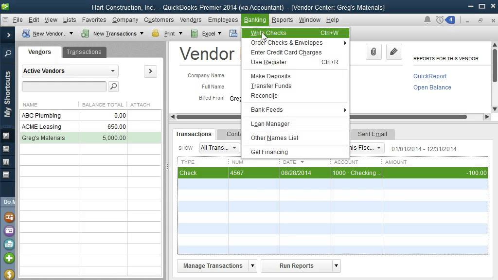 QuickBooks Tutorial / Entering Expenses in QuickBooks