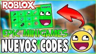 Nuevos Codes para EPIC MINIGAMES en ROBLOX 🤑| Septiembre