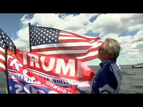 Pro-Trump boat parades mark Labor Day in the United States