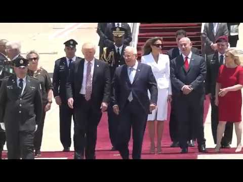 U.S. President Donald J. Trump Arriving in Israel, May 22, 2017