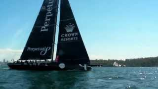 """Anthony Bell's """"perpetual Loyal"""" Crew Training On Sydney Harbour Nov 13 Tom Slingsby Helming!"""