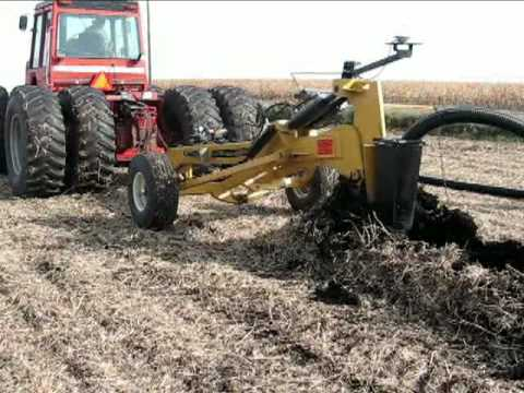 Installing Prinsco Farm Drainage Tile With The Gold Digger Plow You