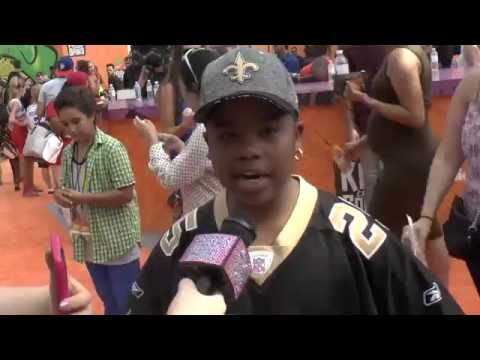 Benjamin Flores Jr ( Lil Peanut ) Kids Choice Sports Interview