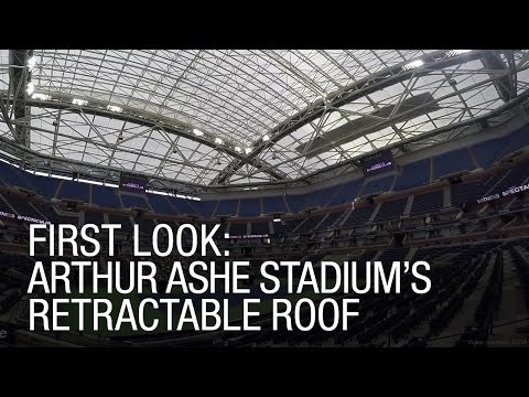 FIRST LOOK: Arthur Ashe Stadium's Retractable Roof