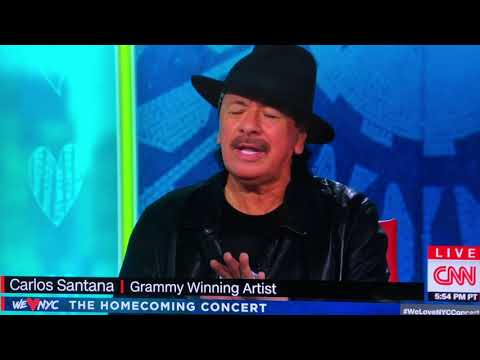 Carlos Santana Interviewed by Anderson Cooper Aug 21, 2021 at NYC concert