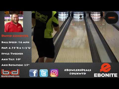 Ebonite Mission Unknown - Ball Review by David Conover - bowlersdeals.com