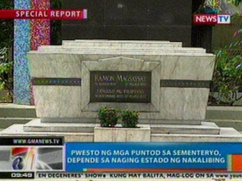 NTG: Special Report: Pwesto ng mga puntod sa sementeryo, depende sa naging estado ng nakalibing