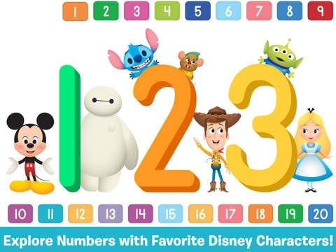Disney Buddies: 123s - Best iPad app demo for kids - Ellie - Learn counting numbers 1 to 20