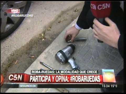 C5N - POLICIALES: ROBA-RUEDAS, MODALIDAD QUE CRECE (PARTE 2)