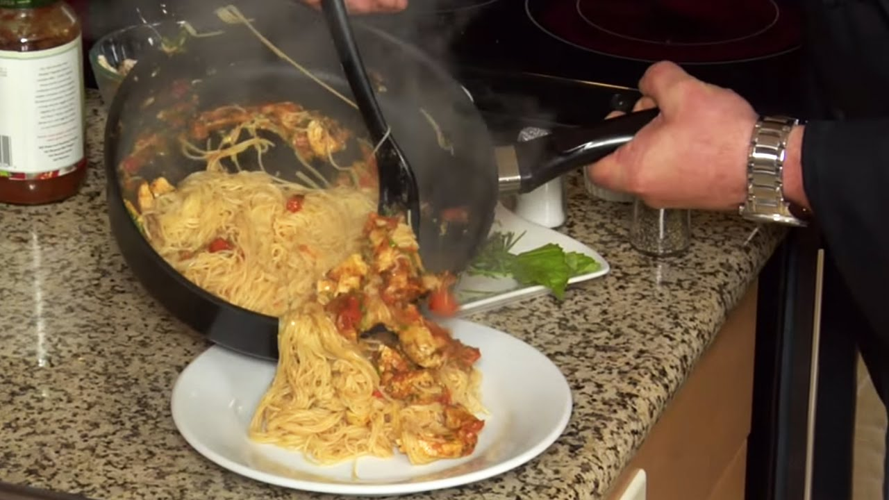 How To Make Angel Hair Pasta With Grilled Chicken Youtube