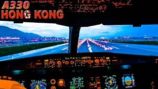 Piloting the Airbus A330 out of Hong Kong