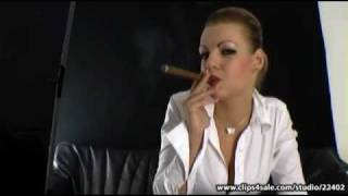 Smoking Justyne Cigar