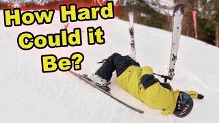 Pro Snowboarder Tries Skiing!  (Season 5, Day 27)