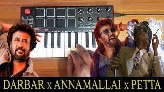 Darbar x Annamalai x Petta | Mass Bgm Mix By Raj Bharath | Rajinikanth | Deva | Anirudh