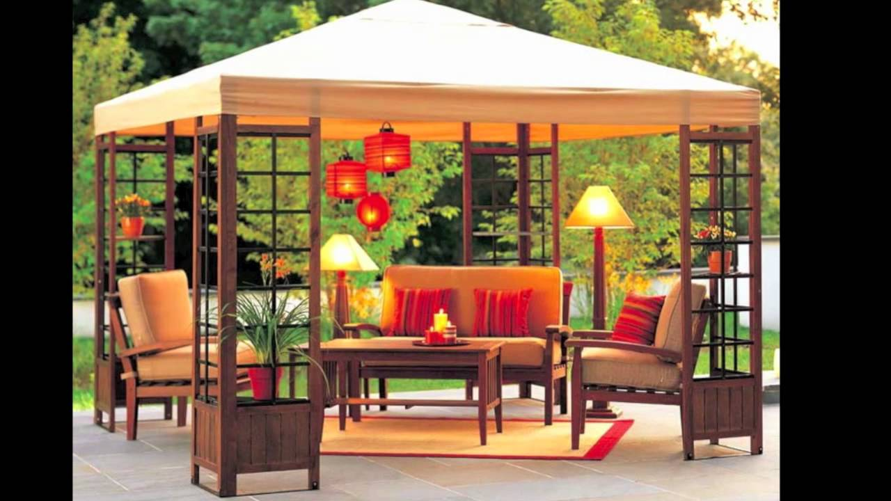 Target Adagio Wood Gazebo Replacement Canopy Youtube