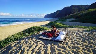 Beach Camping Birthday oฑ Kauai Hawaii - 4K VLOG 169