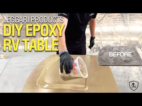 Coating RV Table With Epoxy