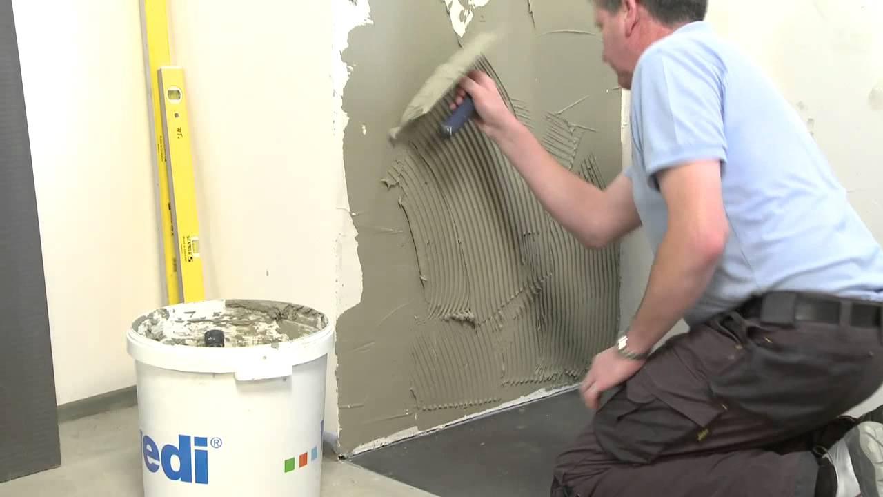 wedi fr tuto wedi montre la construction d une salle de bain avec la plaque hydrofuge