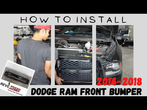 How to Replace 2014-2018 Dodge RAM Front Bumper (Also Fits 2019-2020 Classic 1500)