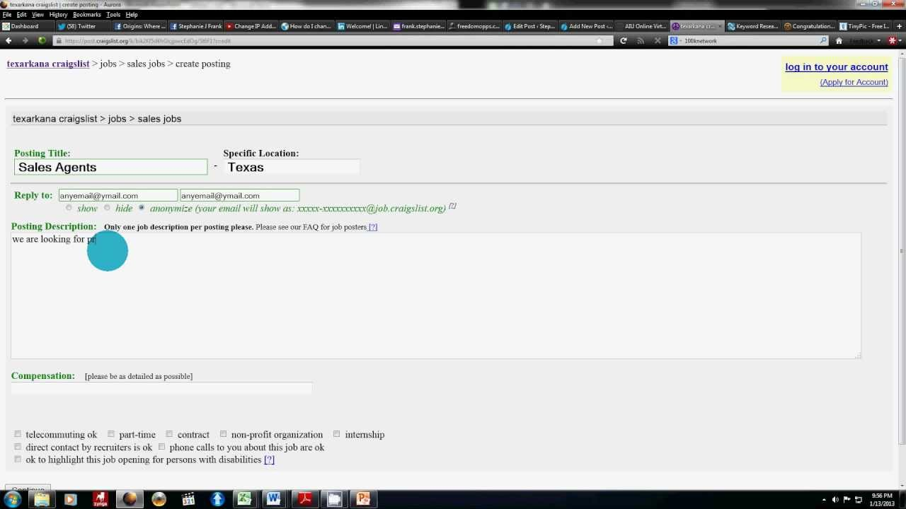 How To Post An Ad On CraigsList - YouTube