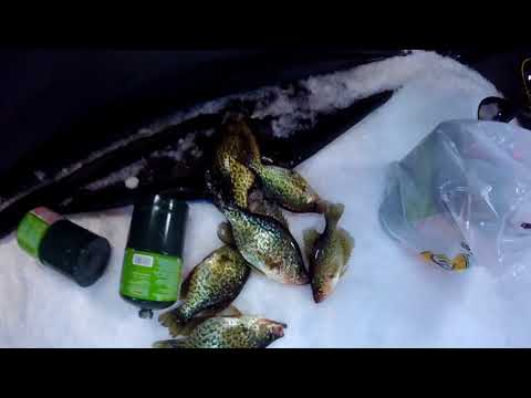Taylor Co Wi Ice Fishing Trip 2018 (New Lake For Me)
