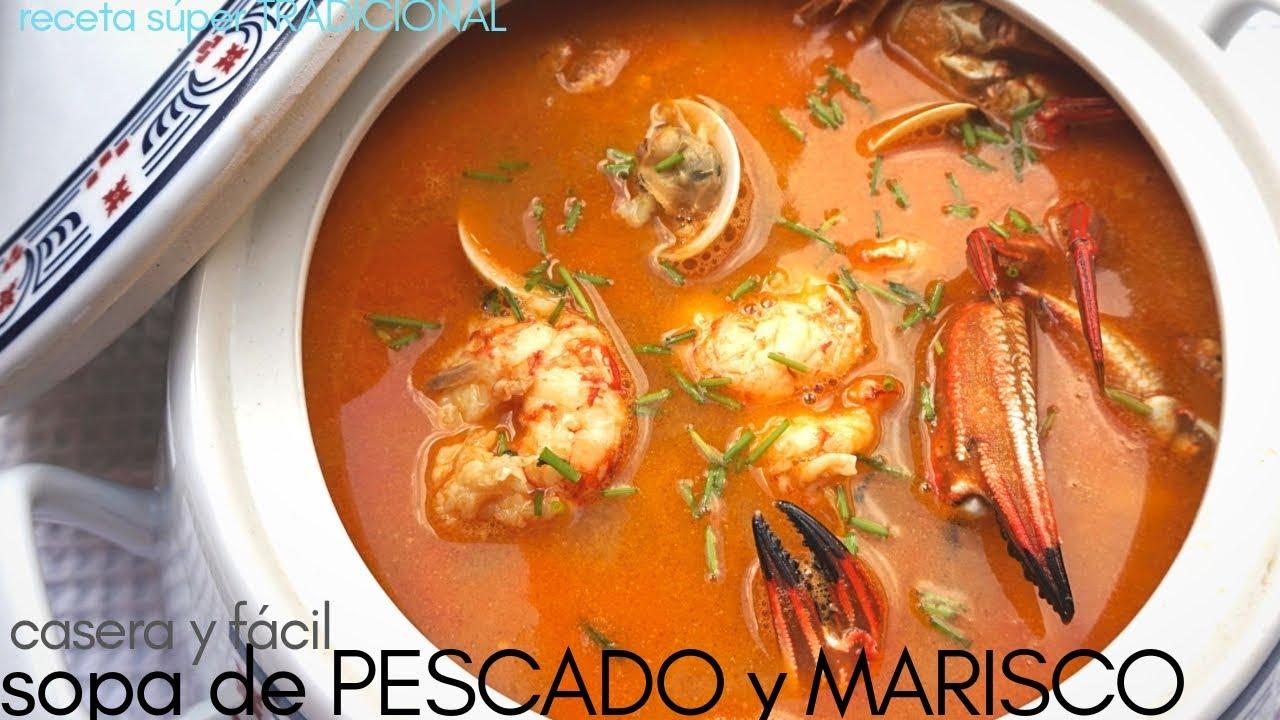 Sopa De Pescado Y Marisco Fácil Receta Navideña Youtube