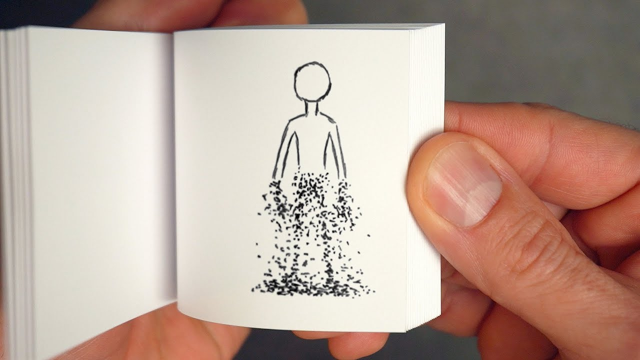 How to Draw a Thanos Snap Disintegration as Flipbook Animation