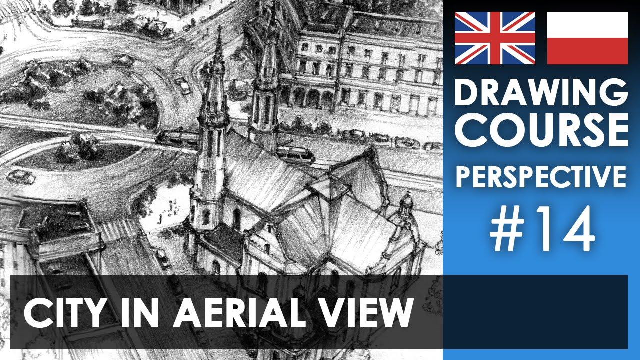 Drawing Tutorial City In Aerial View Kurs Rysunku Miasto Z
