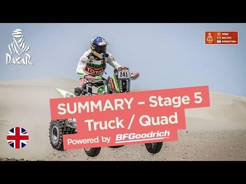 Summary - Truck/Quad/SxS - Stage 5 (San Juan de Marcona / Arequipa) - Dakar 2018