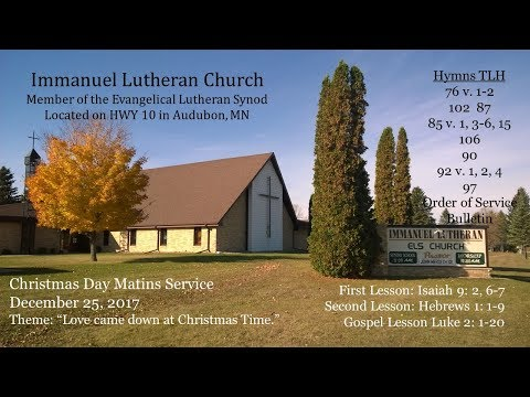 Christmas Day Matins Service