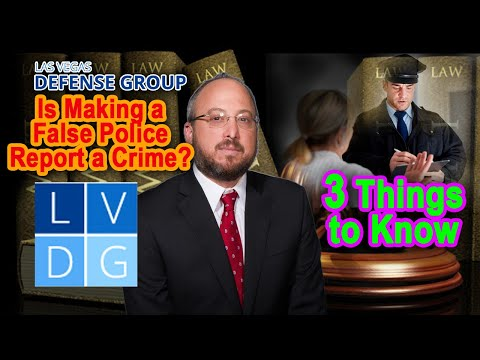Is 'making a false police report' a crime in Nevada?